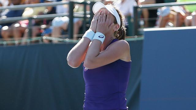 'Humbled' Konta defeats Venus to win first Tour title