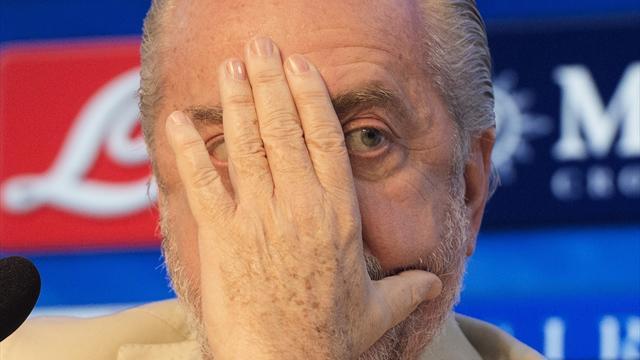 "De Laurentiis punge Sarri: ""Ci è mancata la cazzimma, salvo Insigne. Potevamo perdere 5-0"""