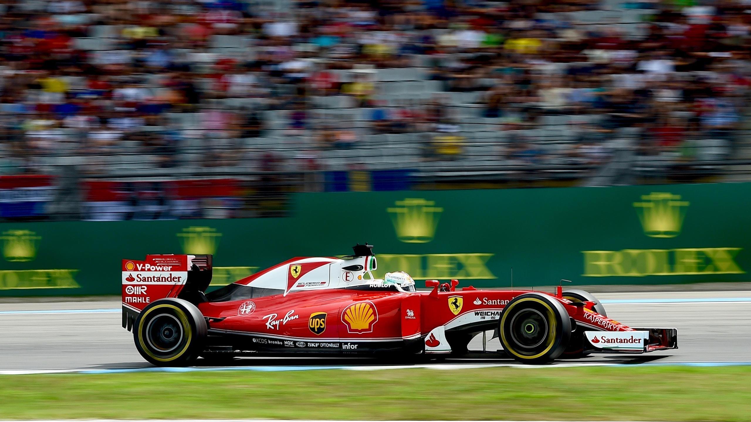 Sebastian Vettel (Ferrari) au Grand Prix d'Allemagne 2016