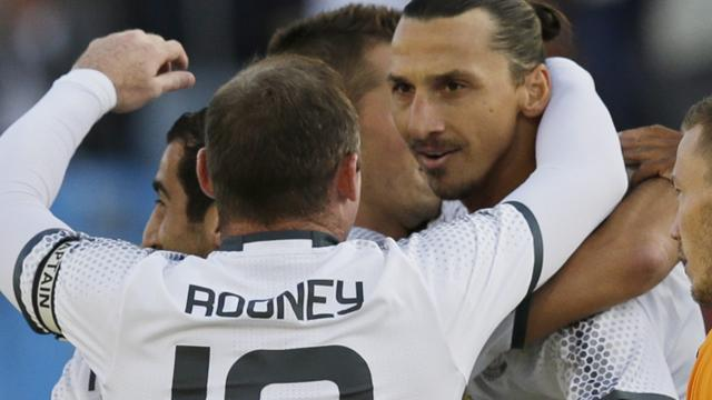 Ibrahimovic starts up front, Rooney in midfield as United take on Leicester in Community Shield