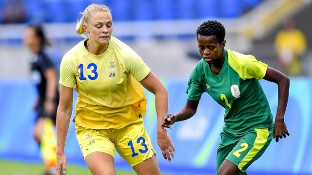 Erster Sieg: Schwedens Frauen schlagen Südafrika knapp