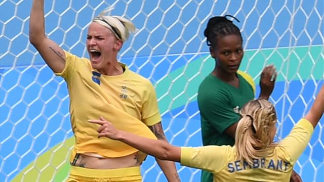 Sweden kick off Games with 1-0 win over South Africa