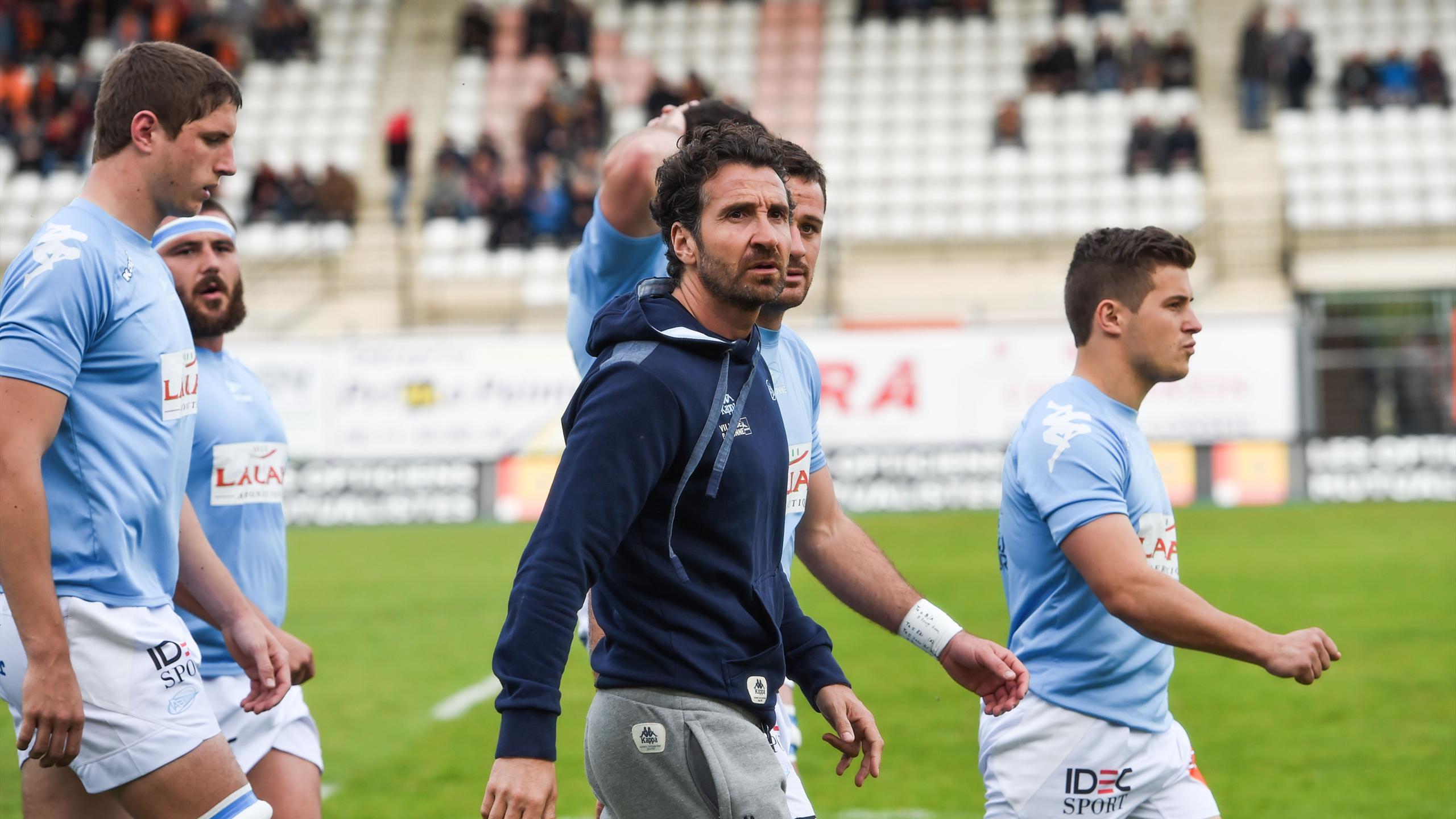 Vincent Etcheto avec ses joueurs