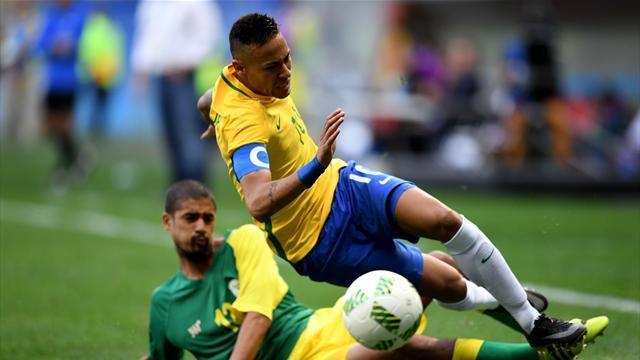"""Le Brésil de Neymar commence """"ses"""" Jeux par un échec"""