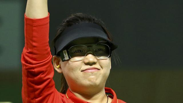 China's Zhang wins gold at women's 10m air pistol