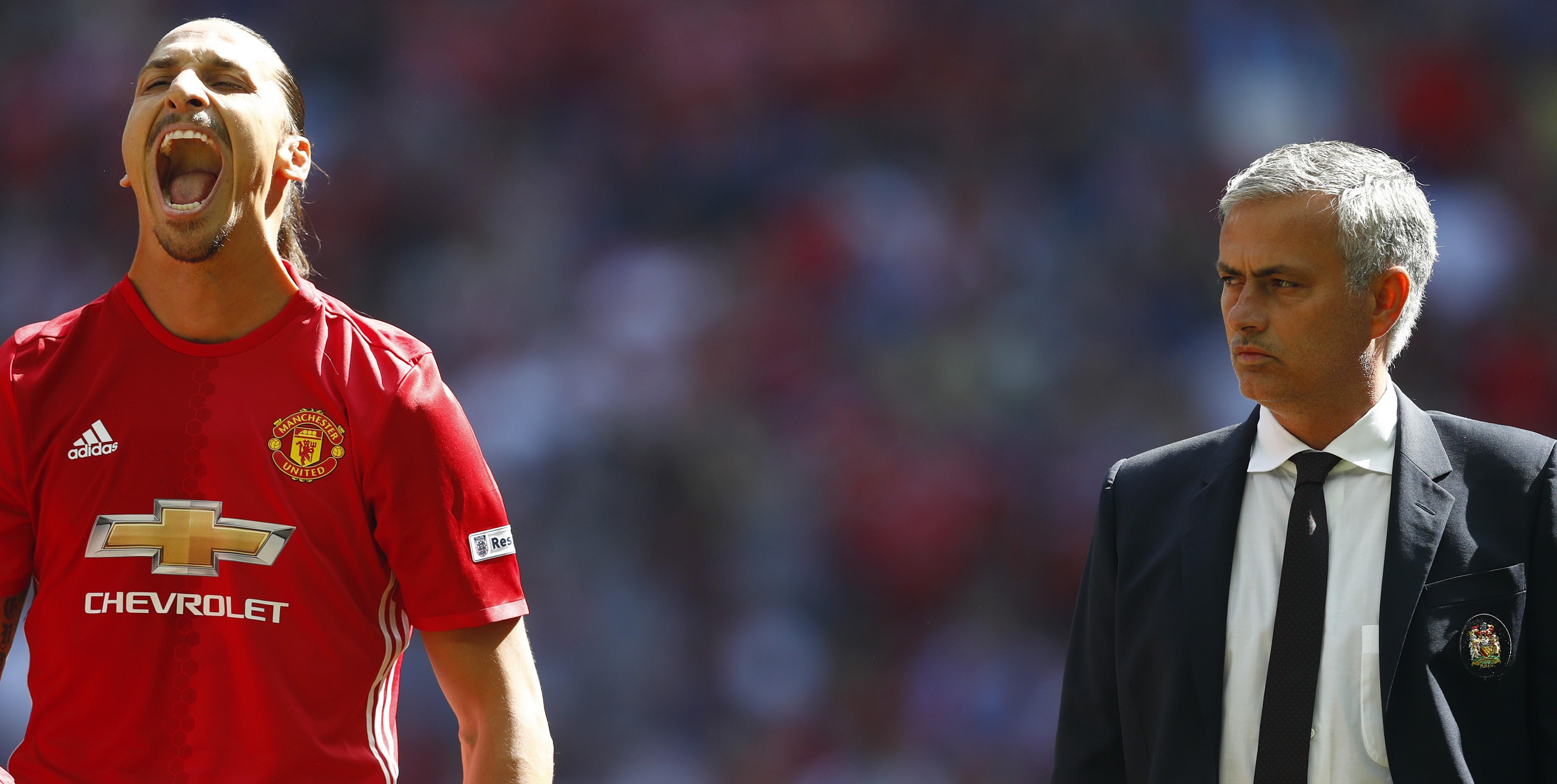 Manchester United - Zlatan Ibrahimovc and Jose Mourinho