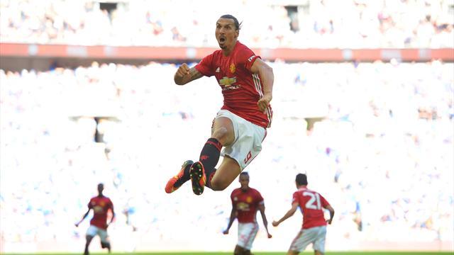Zlatan offre un premier trophée au MU de Mourinho
