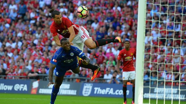Zlatan fires winner as United beat Leicester to win Community Shield