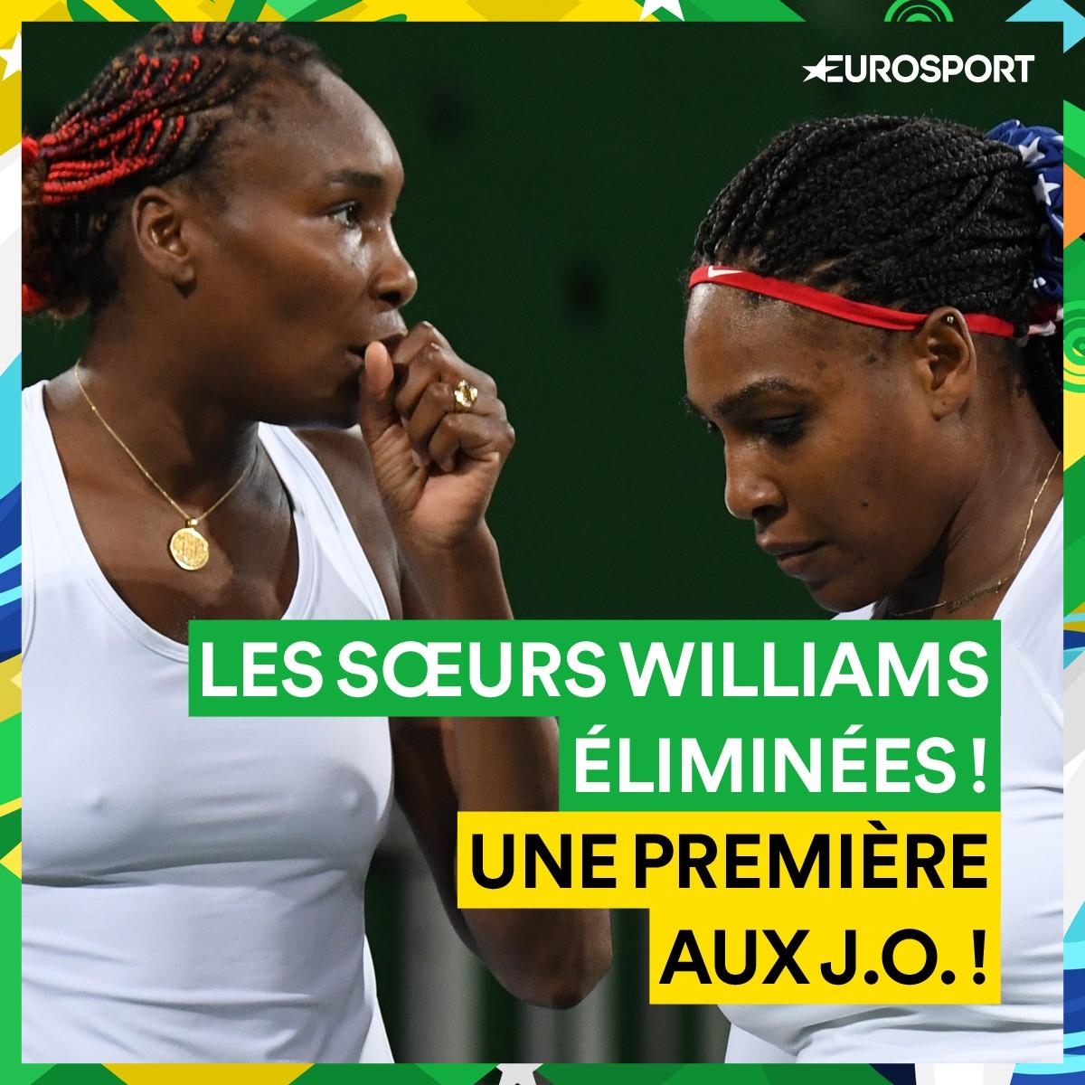 Les soeurs Williams éliminées en double dames