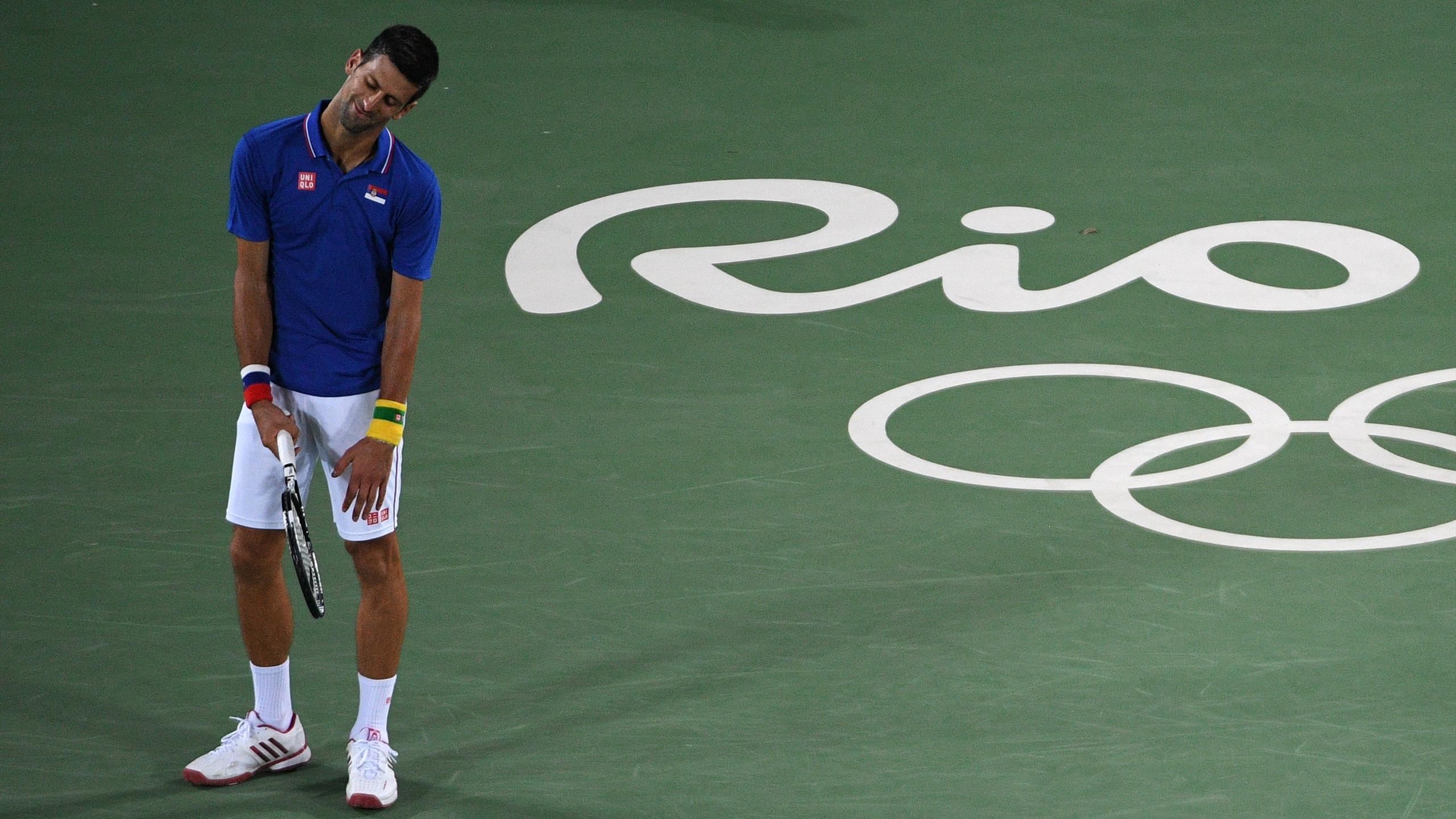 Novak Djokovic lors des Jeux Olympiques de Rio 2016