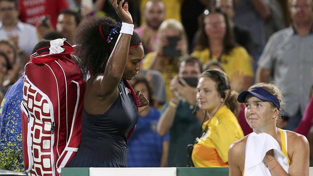 Serena Williams eliminated in huge third-round upset to Ukraine's Elina Svitolina