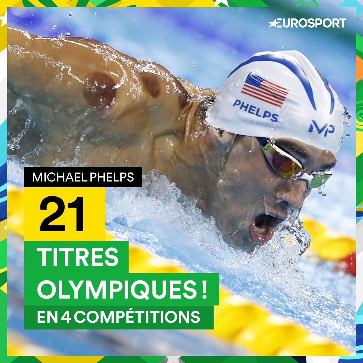 Visuel : 21 médailles d'or olympiques pour Michael Phelps