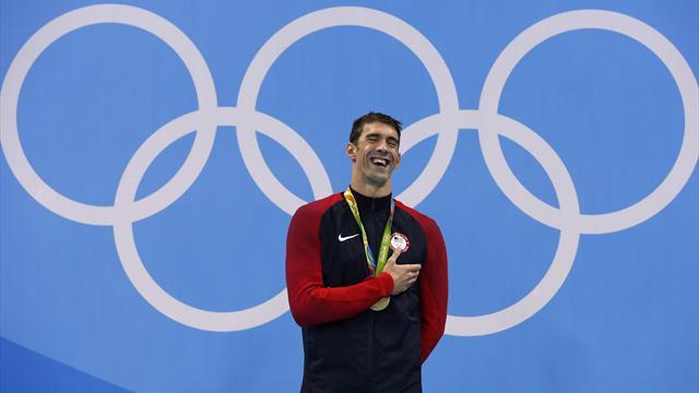 Un 20e puis un 21e titre : ça, c'est Phelps
