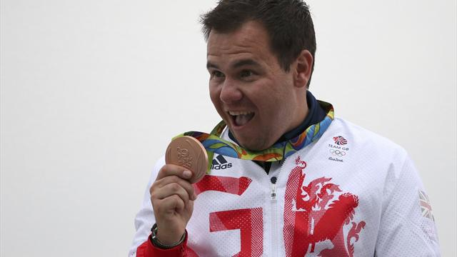 Steven Scott takes bronze for GB in double trap, dances with gun to celebrate