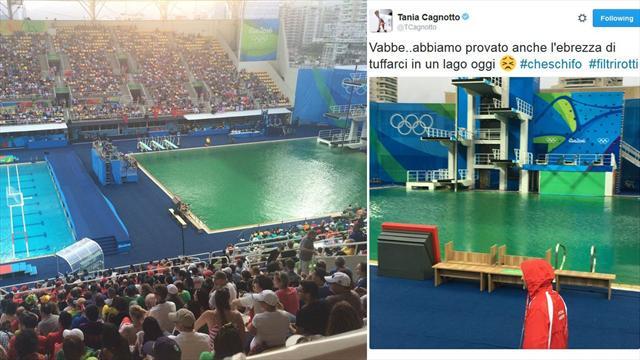 Tuffi olimpiadi rio 2016 acqua ancora verde in piscina ma il programma va avanti rio 2016 - Piscina olimpiadi ...