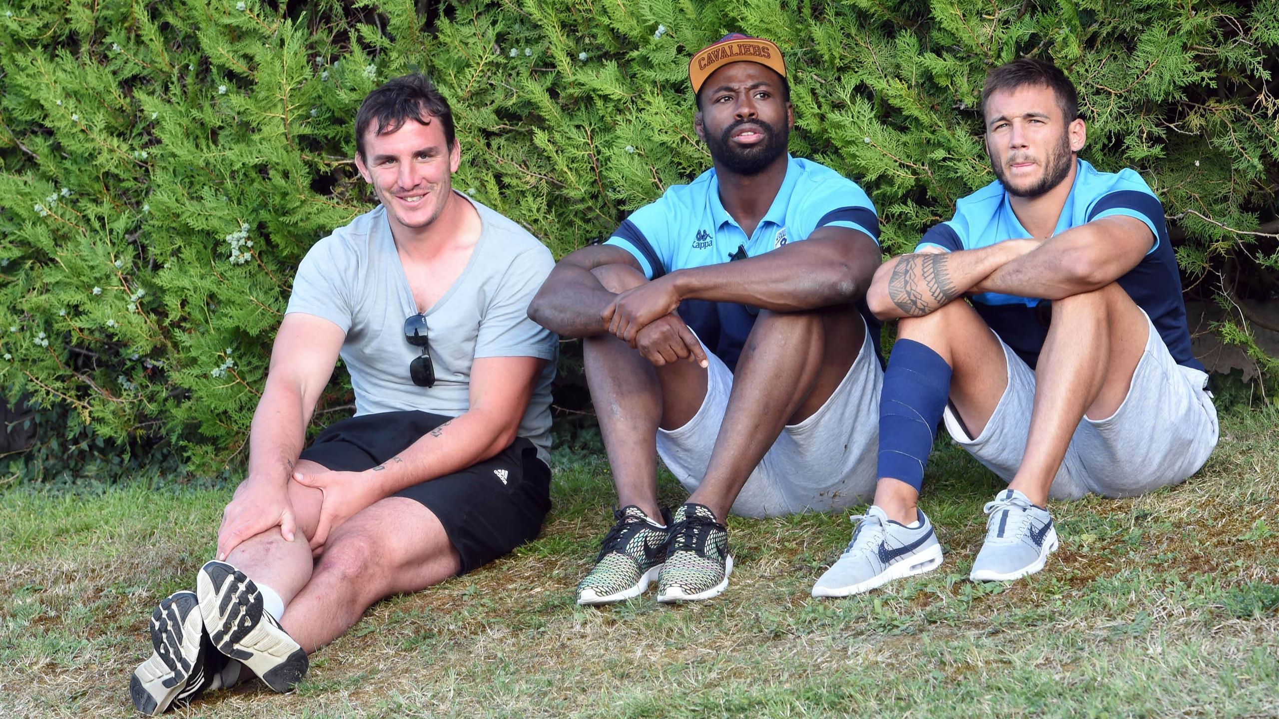 Louis Picamoles a rendu visite à Fulgence Ouedraogo et Benoît Paillaugue