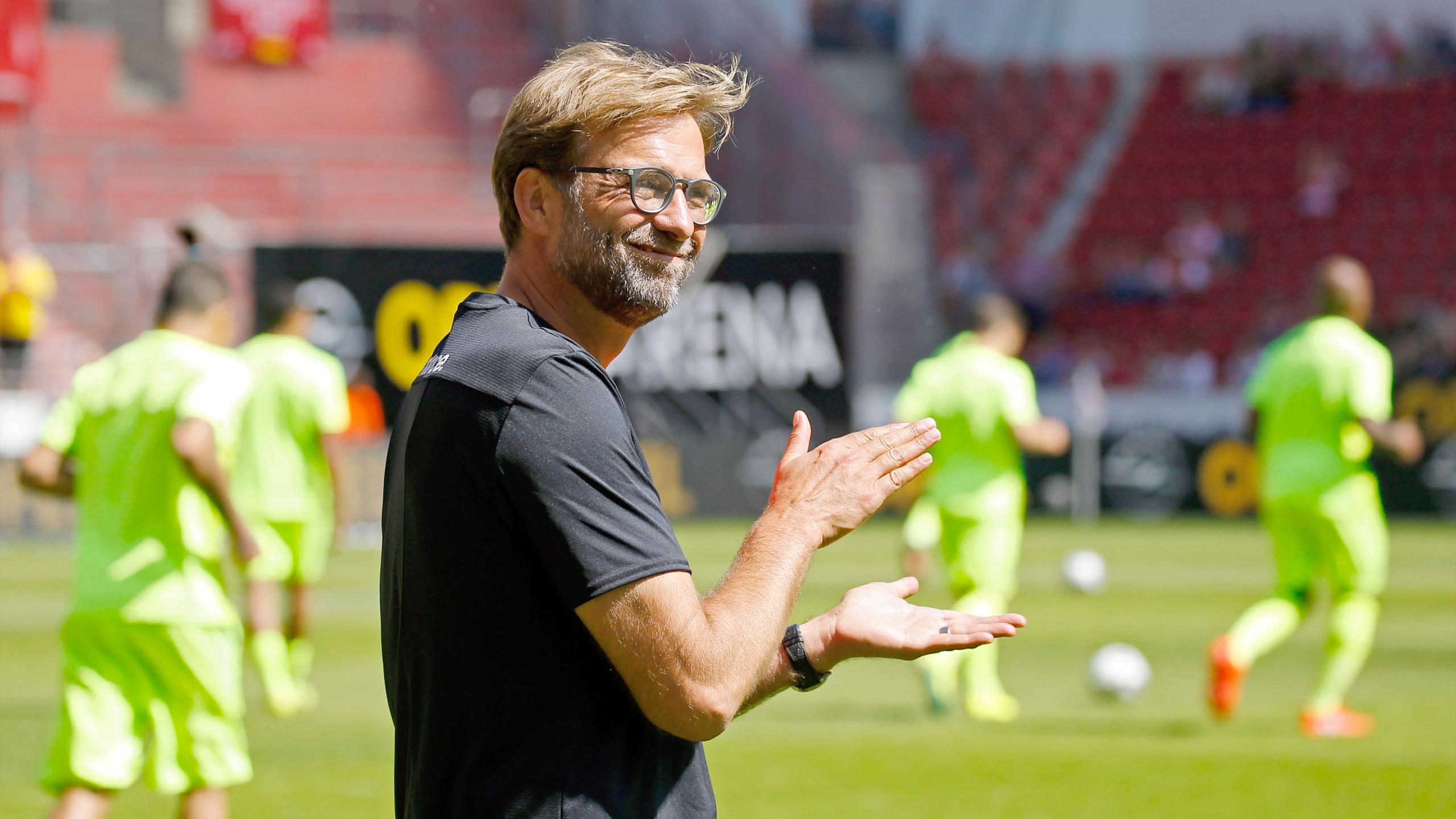 Liverpool's German manager Jurgen Klopp arrives for the friendly football match 1 FSV Mainz 05 vs Liverpool FC in Mainz