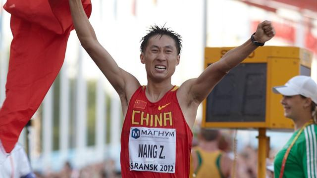 Китаец Ван— олимпийский чемпион входьбе на20км