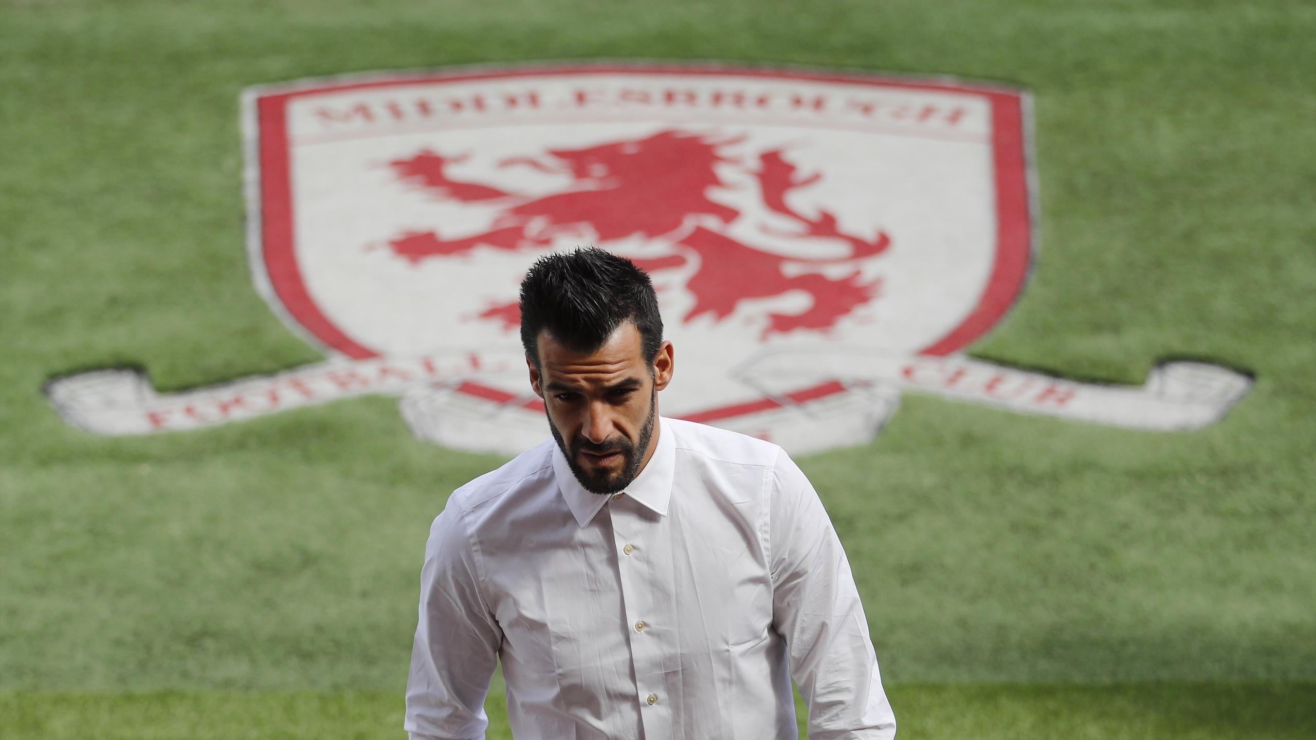 Middlesbrough's Alvaro Negredo before the game