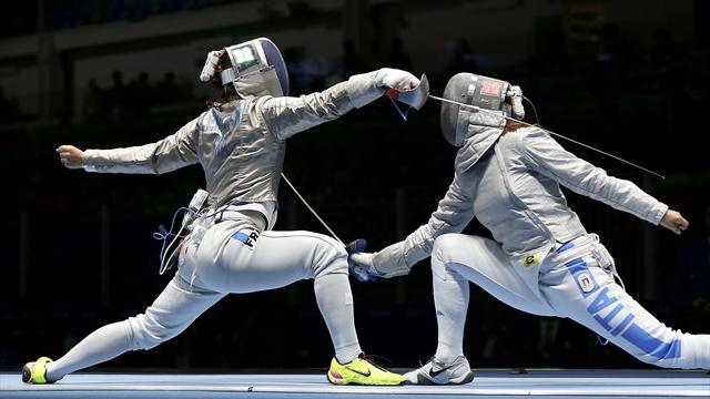 Ucraina-Italia 45-42 Sciabola a Squadre Femminile (Scherma Rio 2016)