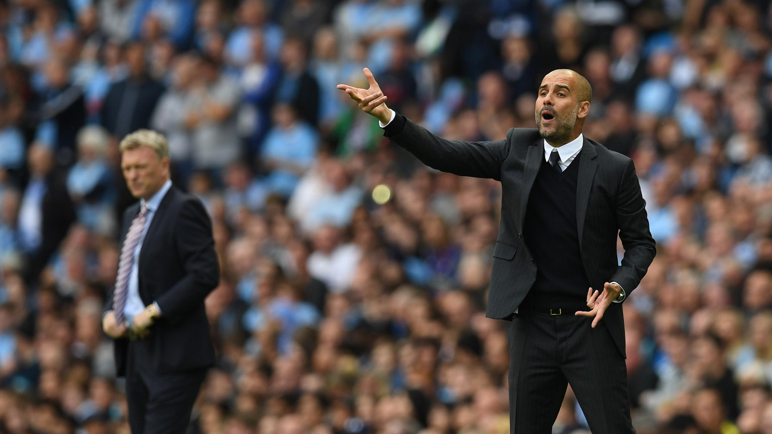Pep Guardiola in his premier league debut for Manchester City