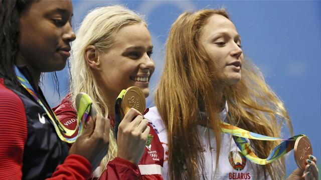 Blume wins Denmark's first swim gold since 1948