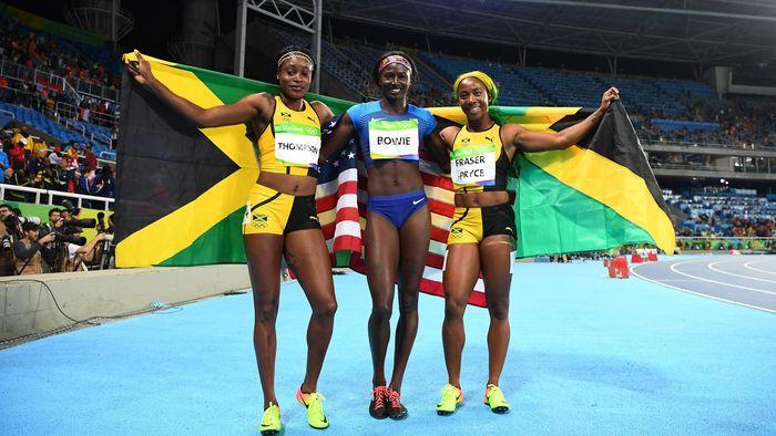 detaillierte Bilder größter Rabatt bestbewerteter Beamter Olympia 2016 in Rio: 100m-Gold an Jamaikanerin Elaine ...
