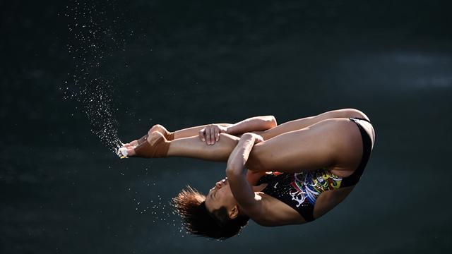 Китаянка ШиТиньмао завоевала золото Олимпиады впрыжках стрехметрового трамплина