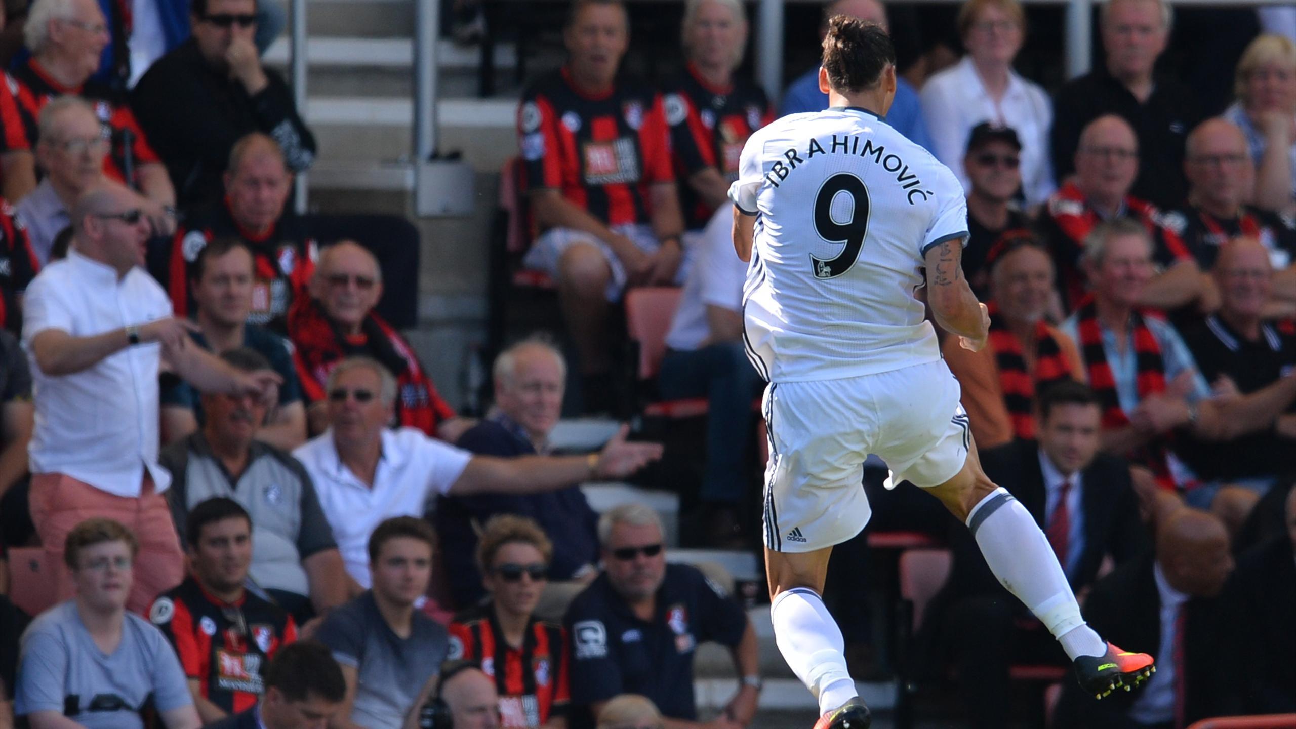 Zlatan Ibrahimovic a marqué pour Manchester United à Bournemouth