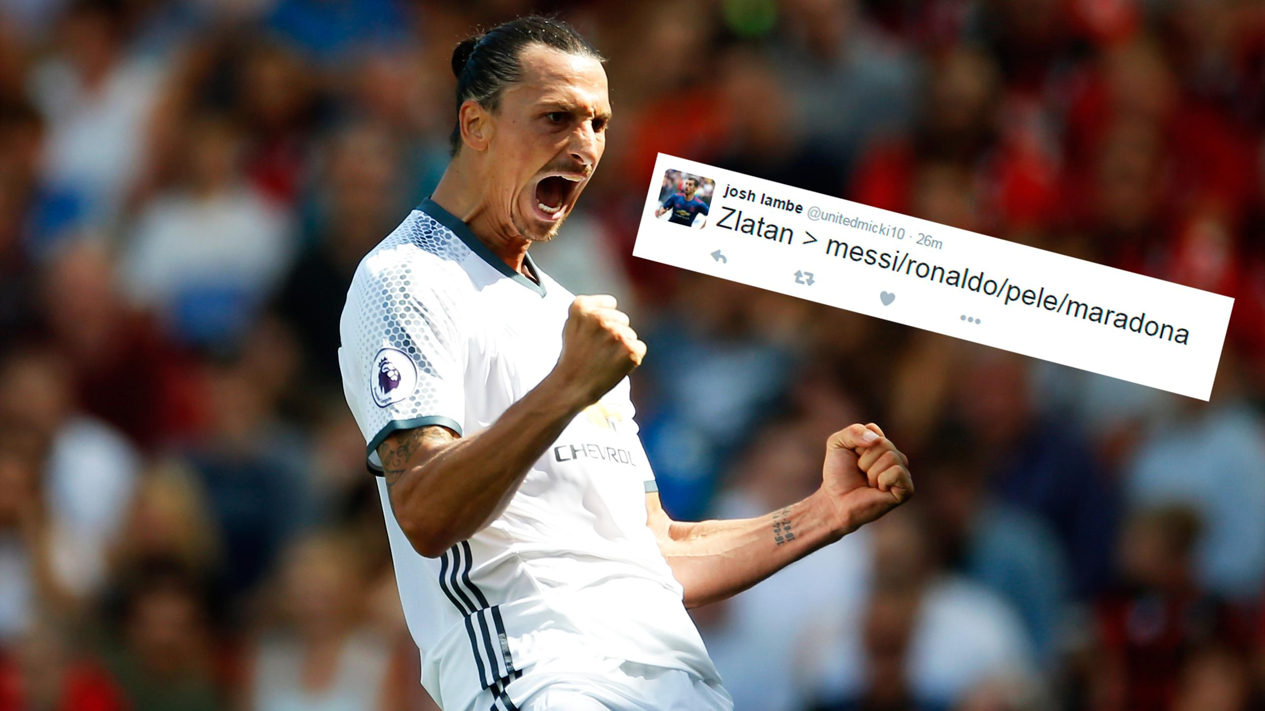 Zlatan Ibrahimovic and praise for the Manchester United forward