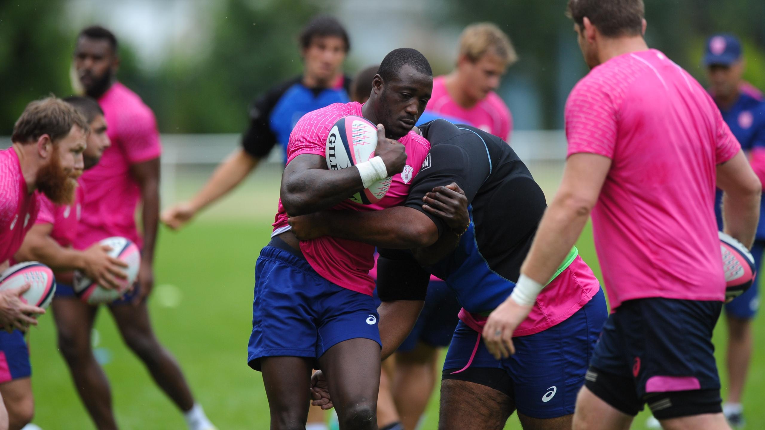 Djibril Camara (Stade français) à l'entraînement - août 2016