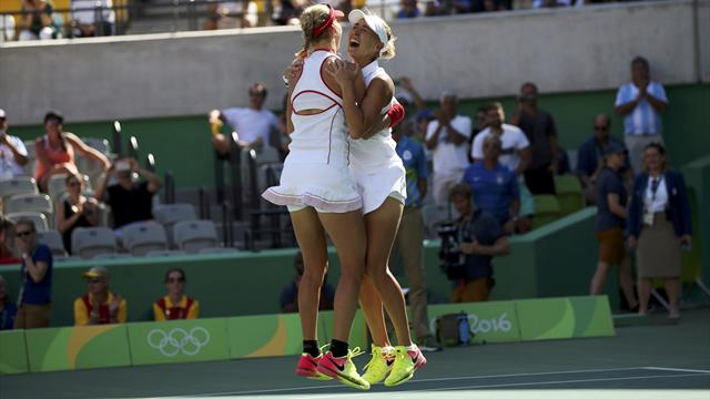 Vesnina and Makarova win women's doubles gold, Hingis and Bacsinszky take silver