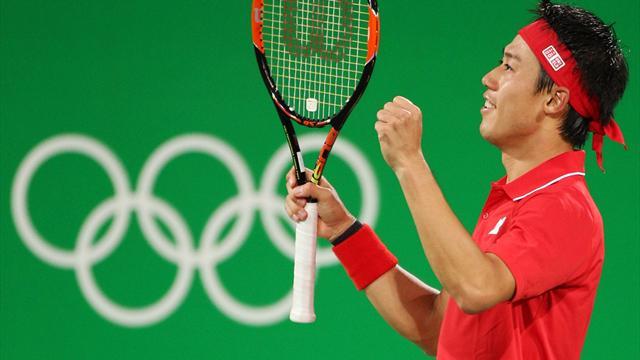 Nishikori beats Nadal to claims bronze in men's singles
