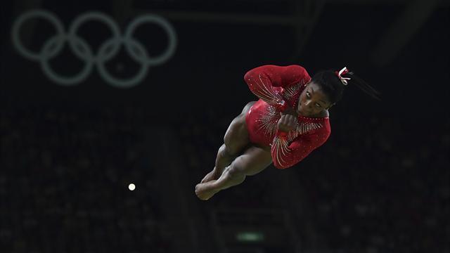 Troisième médaille d'or pour Biles, sacrée au bond