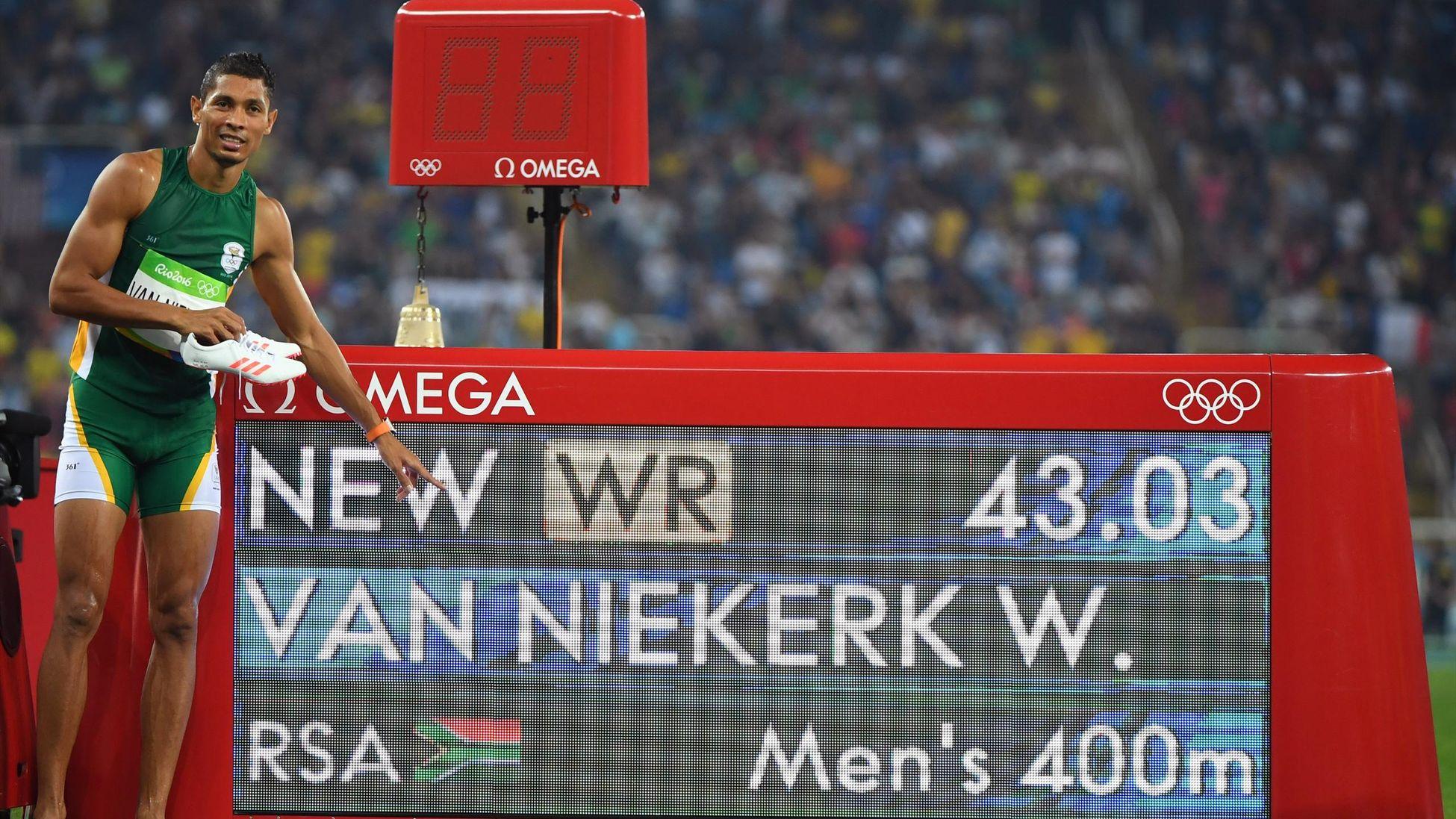 43''03 sur 400m : Van Niekerk efface Michael Johnson des tablettes et réussit la course du siècle