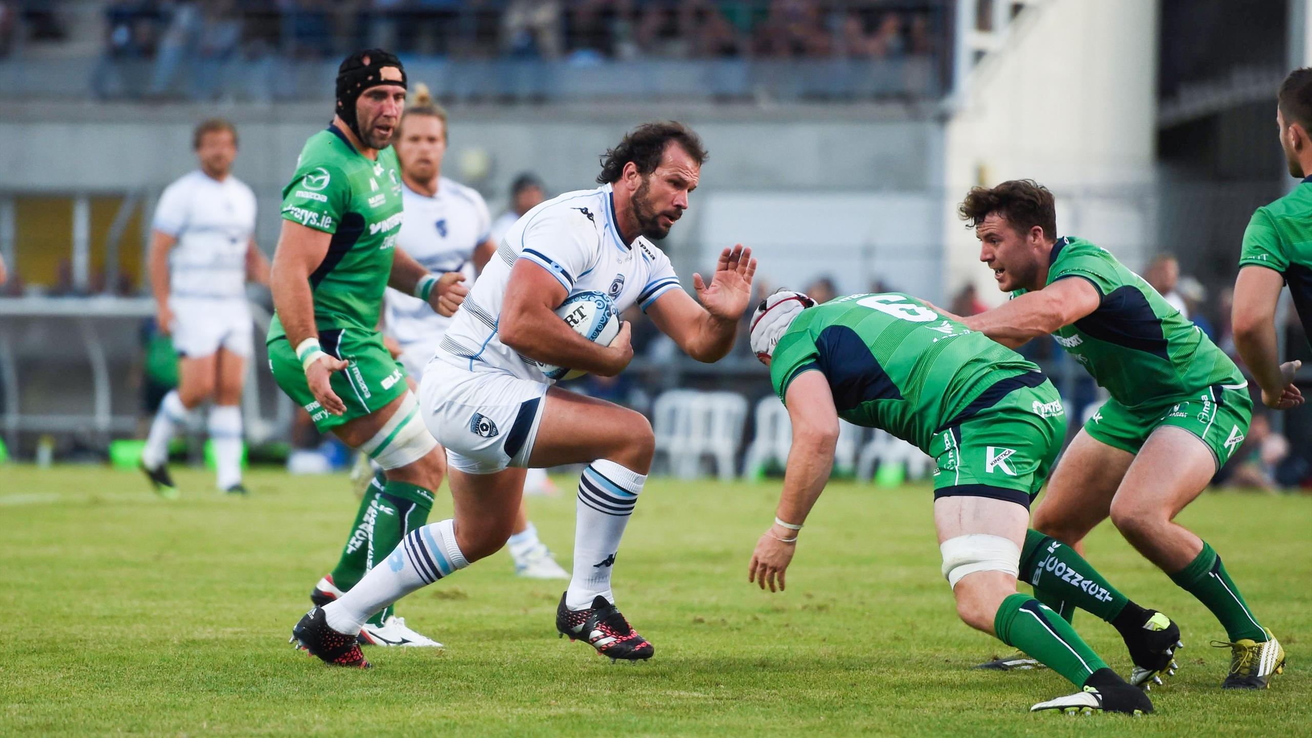 Bismarck Du Plessis (Montpellier) face au Connacht - Août 2016