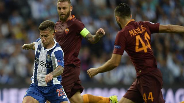 La Roma a tenu le choc (à dix) à Porto, le Celtic est bien parti