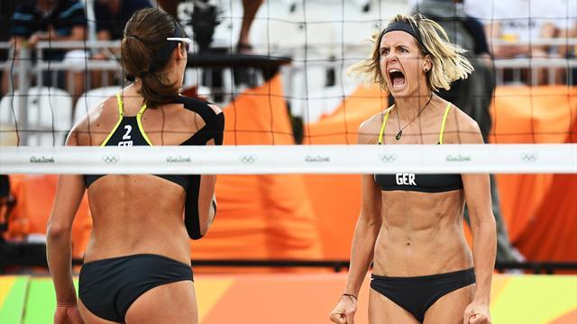 Вфинале немки победили бразильский дуэт— Пляжный волейбол