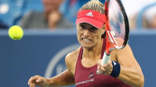 Kerber bids to replace Serena Williams at top of rankings