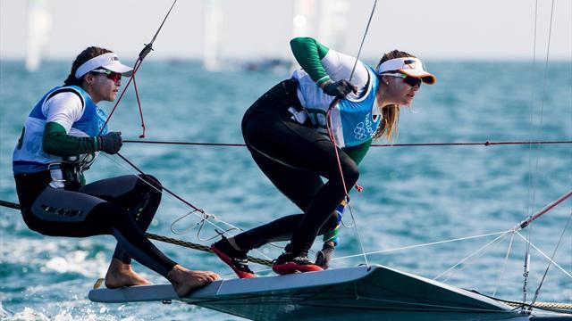 Женская сборная Бразилии выиграла золото в парусной регате в классе 49 FX