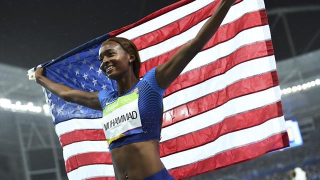 Dalilah Muhammad wins 400m hurdles