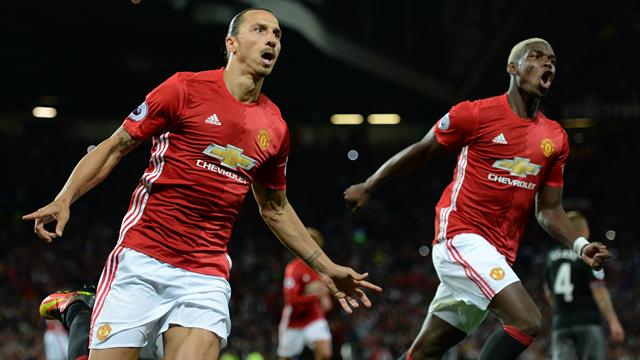 Zlatan nets brace as United's perfect start continues