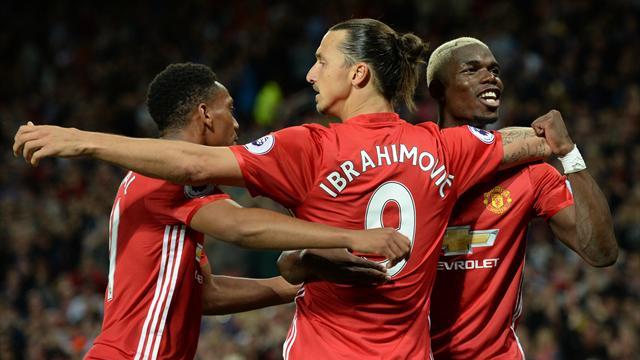 Pogba a (bien) joué, Zlatan s'est offert un doublé : Manchester United a passé une bonne soirée