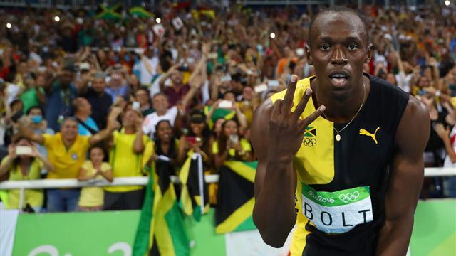 Usain Bolt wins 'triple triple' as Jamaica triumph in 4x100m relay