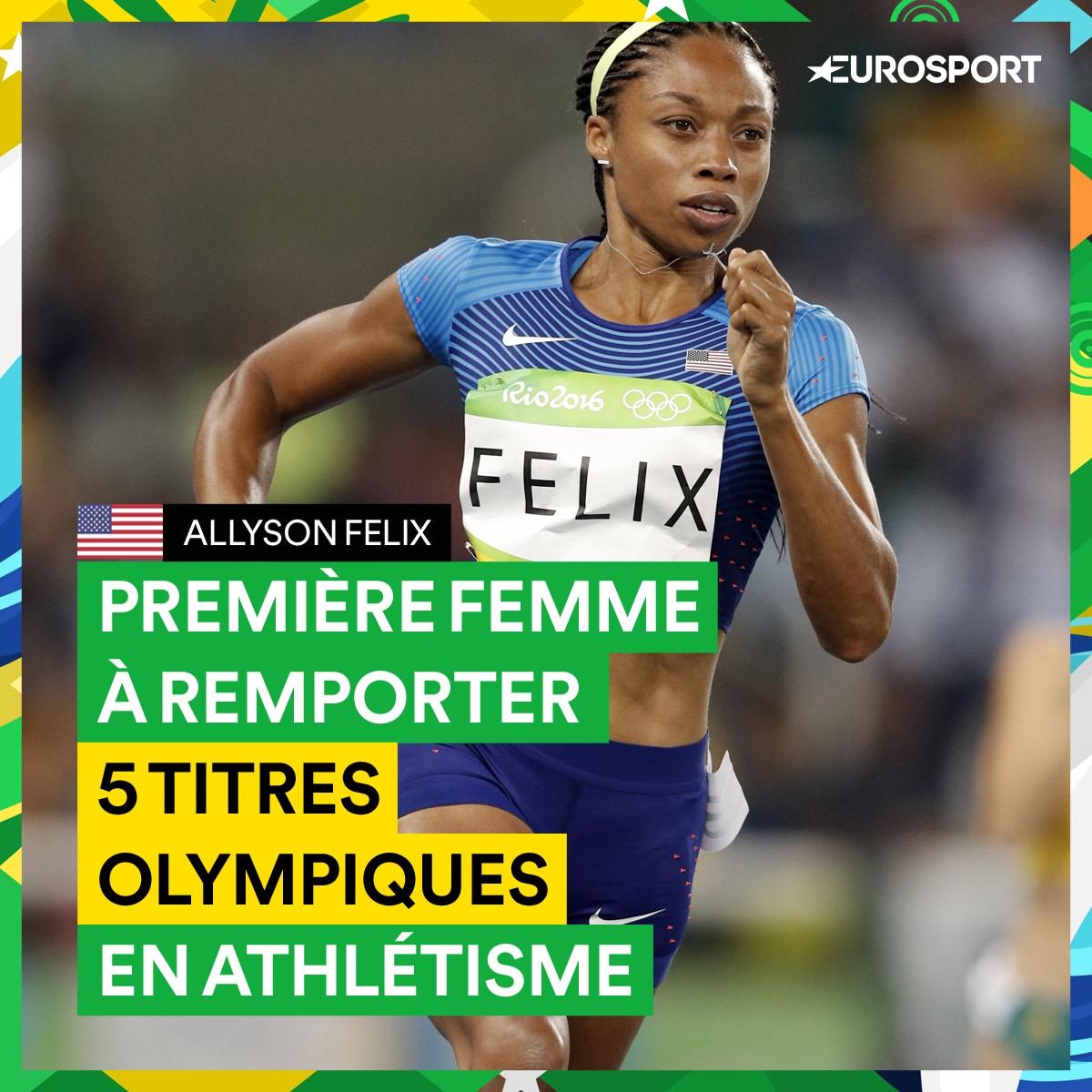 Allyson Felix, 5 titres olympiques