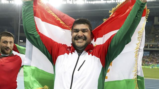 Nazarov wins men's hammer for Tajikistan's first gold