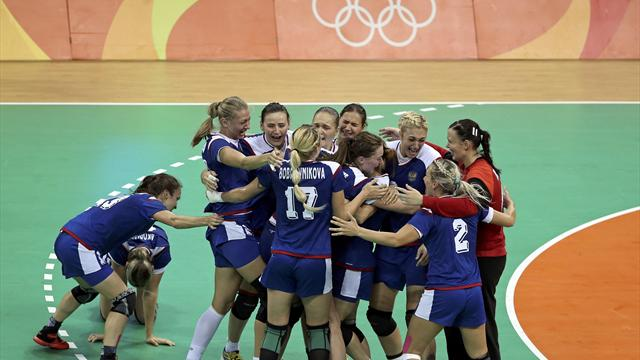 Russian women overcome France to win first handball gold