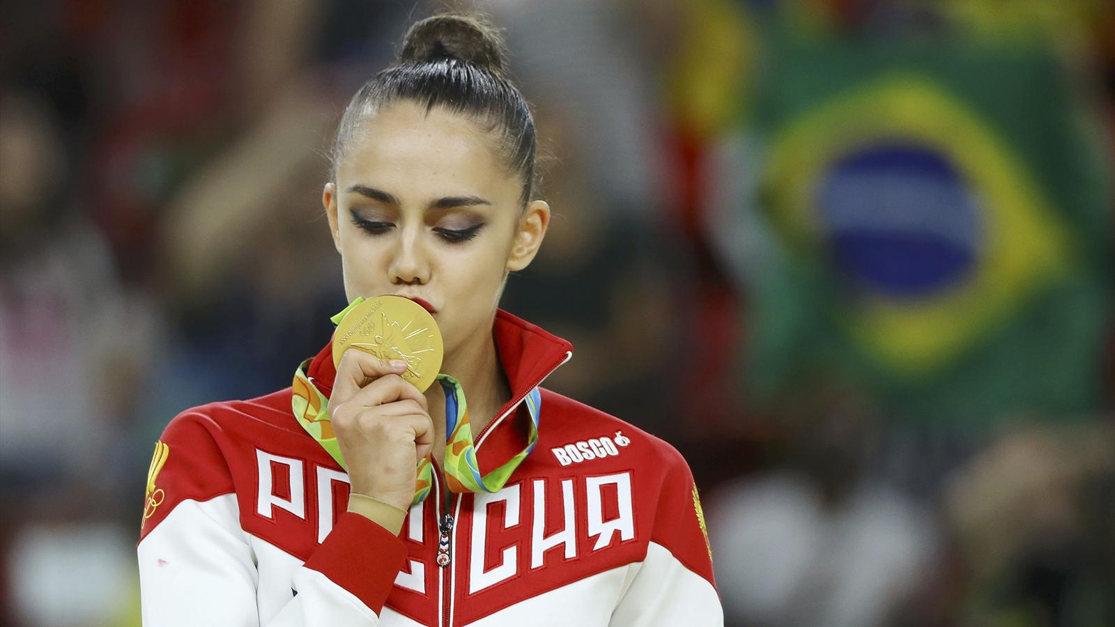 Russia's Margarita Mamun wins individual all-around gold - Rio 2016 - Rhythmic Gymnastics ...