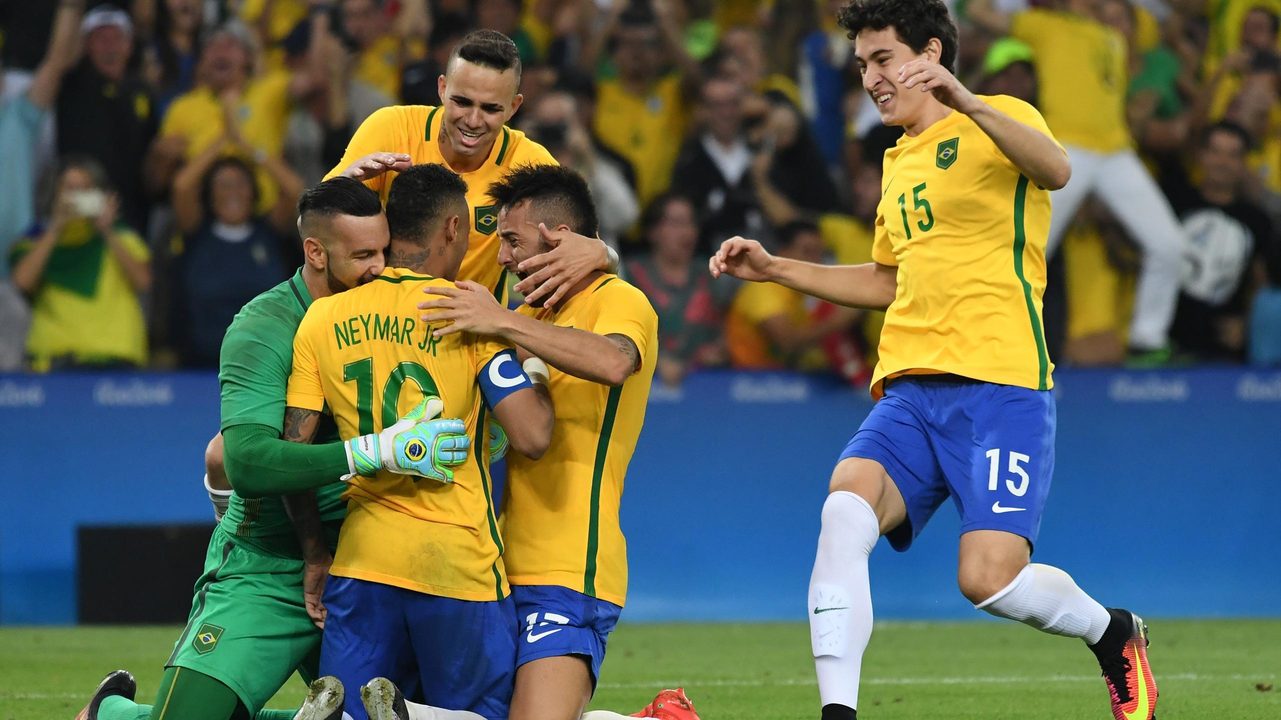 Fussball Olympia Mannschaft Brasilien Brocken Inselsbergde