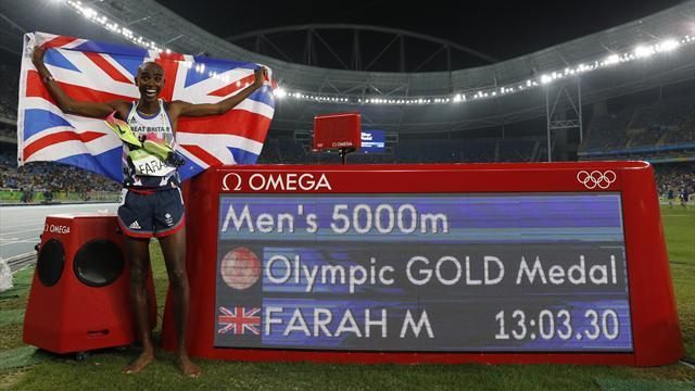 """Après le """"triple-triplé"""" de Bolt, voici le """"double-doublé"""" de Farah"""